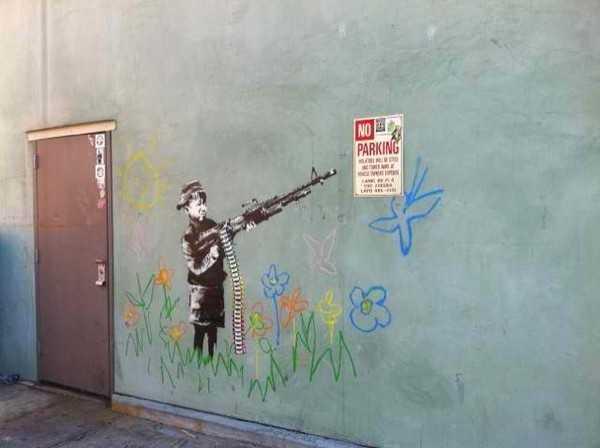 ウエストウッドで見つかった「Banksy」の新作