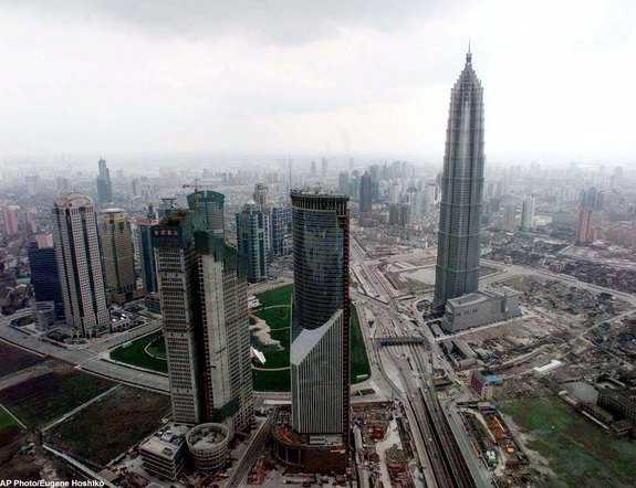 中国のジンマオタワーの写真
