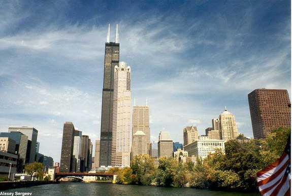 シカゴのシアーズタワーの写真
