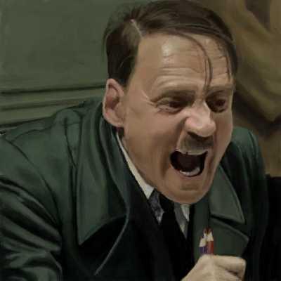 ヒトラーが怒っている画像