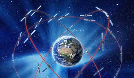 ディスクが地球の周りを回るイメージ図