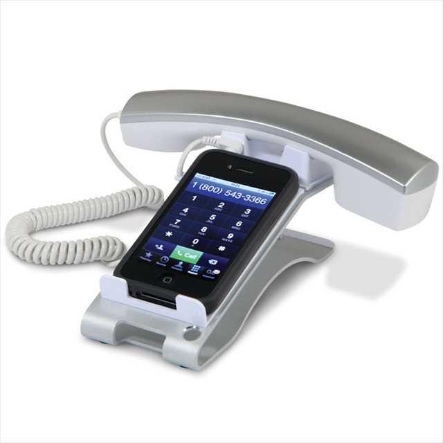 iPhoneを固定電話に変換するグッズの写真