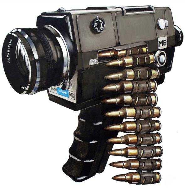 機関銃みたいなカメラの画像