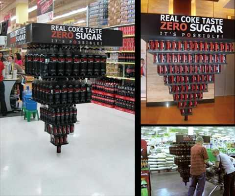 スーパーの面白い陳列