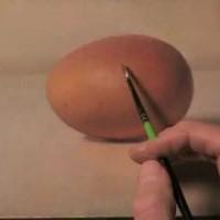 【動画】卵の絵に上描き上描きを繰返してちょっとずつ割るアート