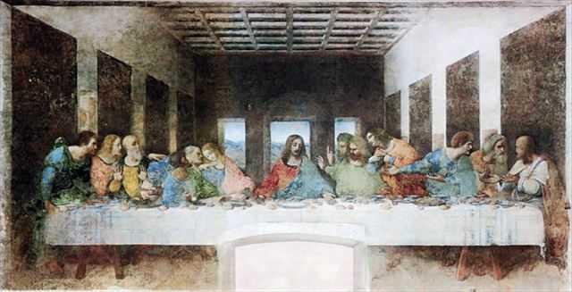 【画像】黒板にチョークで描かれた「最後の晩餐」のクオリティが半端ない+おまけ
