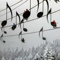 【画像】フランスのスキー場の「音符型リフト」が素敵すぎる♪