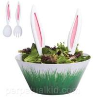 サラダに挿すとウサギになっちゃう「ウサ耳サラダサーバー」がカワイイ