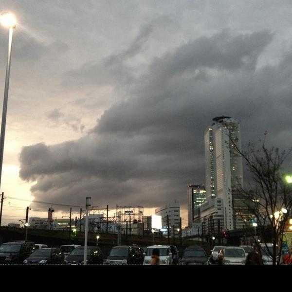 龍のように見える雲の写真