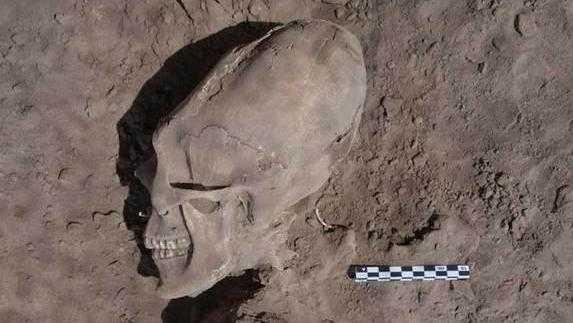 メキシコでエイリアンのような頭蓋骨が発見された!!