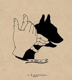 手影絵「犬」その2
