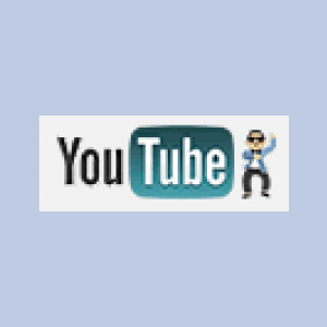 「江南スタイル」VerのYoutubeのロゴ