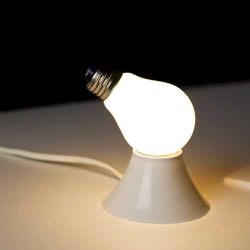 電球型の電球?不思議なデザインの電球「Lamp/Lamp」