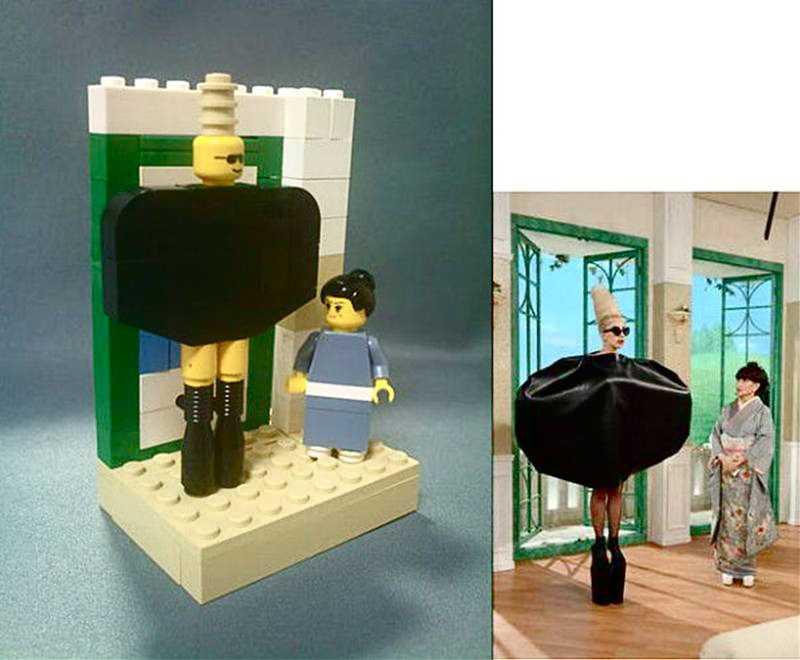 レディー・ガガと徹子の部屋を再現したLEGO