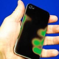 サーモグラフィーっぽく色が変化するiPhone用シールが何だかカッコイイ