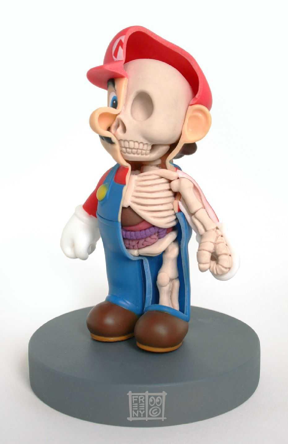 マリオの骨格図