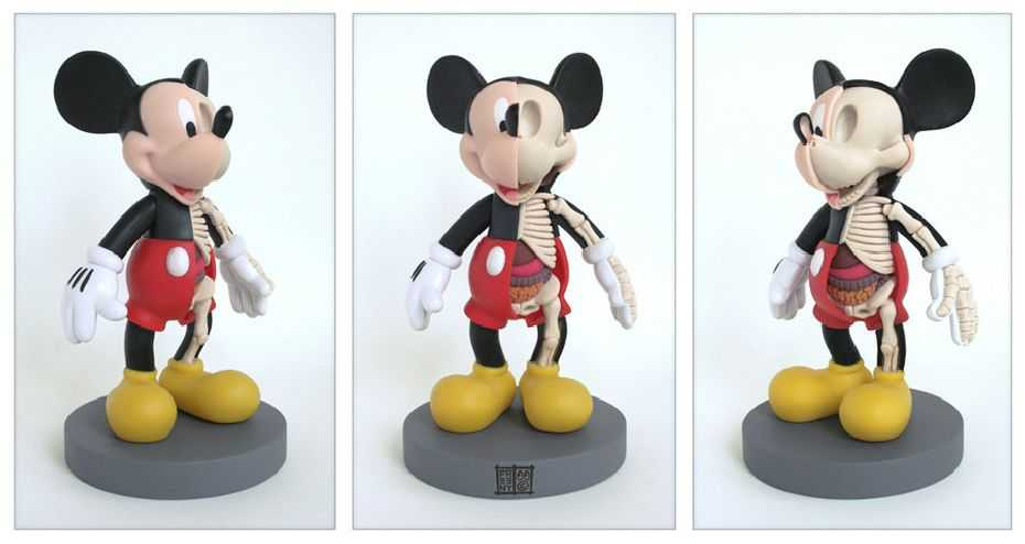 ミッキーマウスの骨格図1