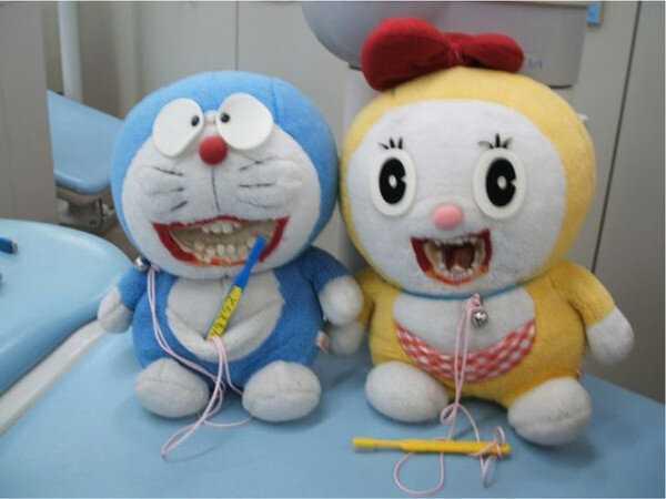 「歯医者に置いてあるドラえもんが怖すぎる」とTwitterで話題