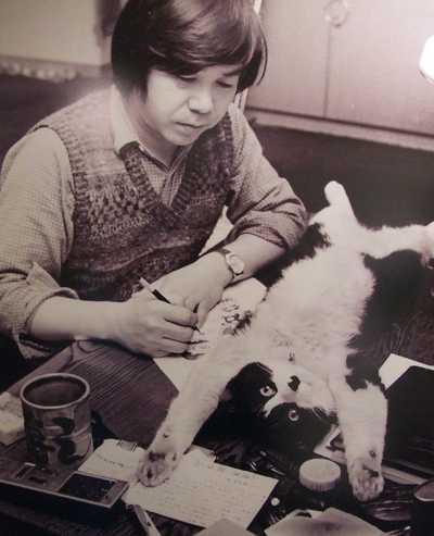 赤塚不二夫の愛猫「菊千代」の写真