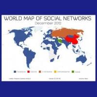 【2012年】世界で一番流行ったSNSはどれ?「世界のSNS勢力図」
