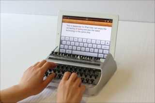 【アナログ+デジタル】タイプライターでiPadを操作する「iTypewriter」がバカ過ぎるwww