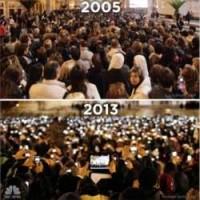 【画像】8年前のバチカンの写真でわかる「人類の進歩」