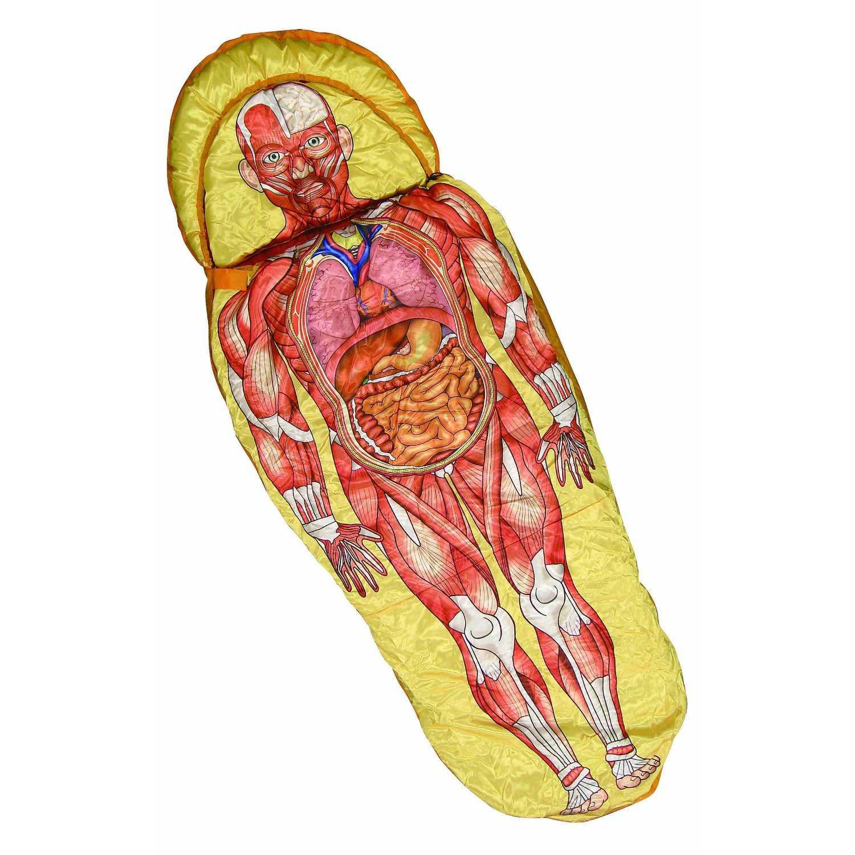 なんだよこれは・・・リアル過ぎて怖い「人体模型寝袋」