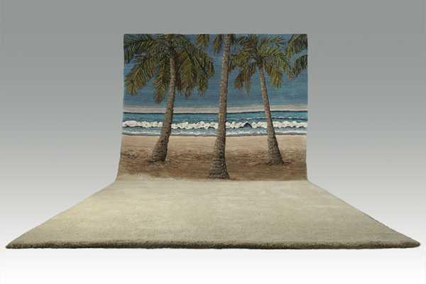 敷くだけで部屋が森や草原、砂浜になるラグ