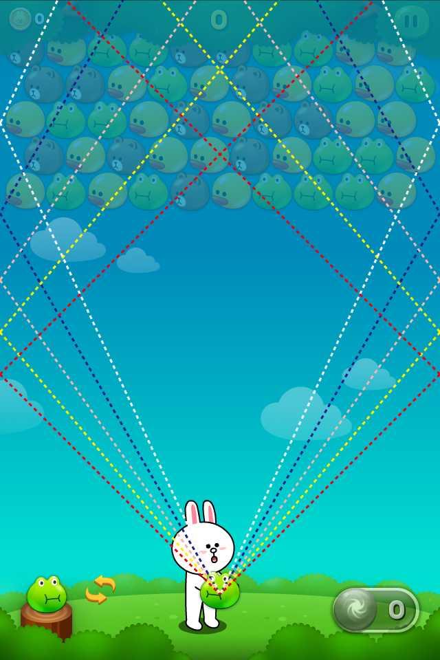 【攻略・コツ】LINEバブルの反射角度が分かる壁紙を作ってみた