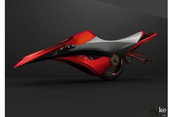 ダイソンの羽根のない扇風機をモデルにしたバイクが近未来すぎて凄い