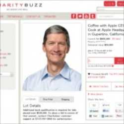 AppleのCEOティム・クック氏とコーヒーが飲める権利がオークションに!値段はなんと6000万円