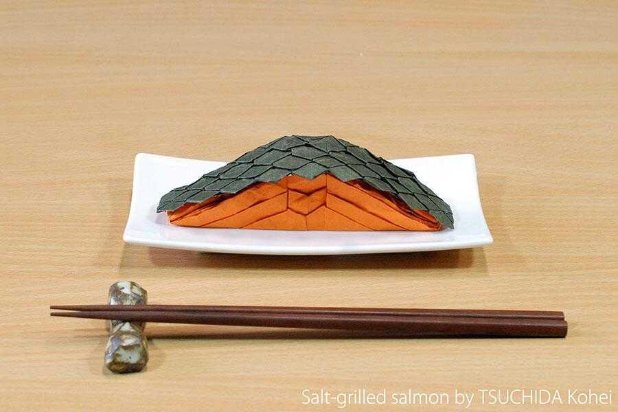 折紙創作集団スクエアの作った「焼き鮭の折り紙」がTwitterで話題