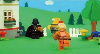 ルークとダースベイダーが超仲良し!LEGOが作成した「父の日」動画