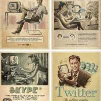 【小ネタ】「ヴィンテージ風SNS広告」がTwitterで話題