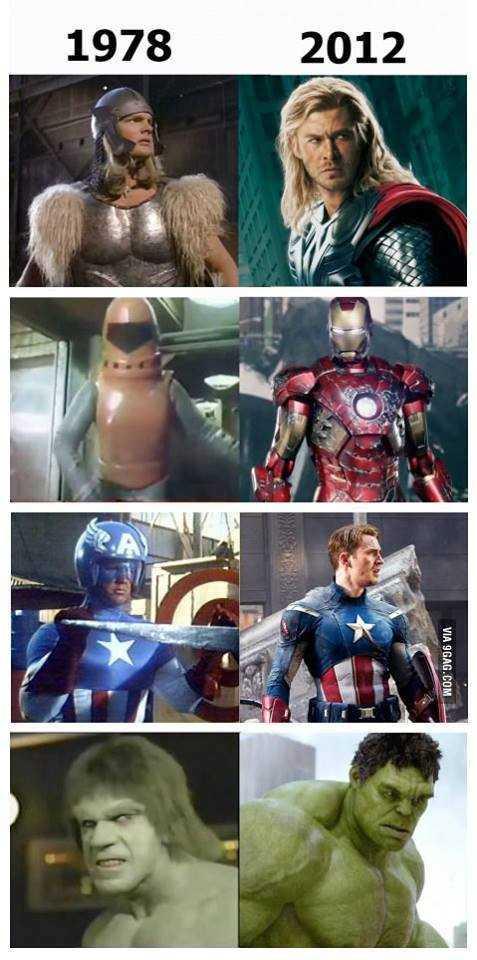 【小ネタ】「1978年のアイアンマンと現在のアイアンマンとの差が酷すぎる」と話題