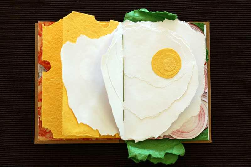まるで本物サンドイッチのような「美味しそうな本」が話題