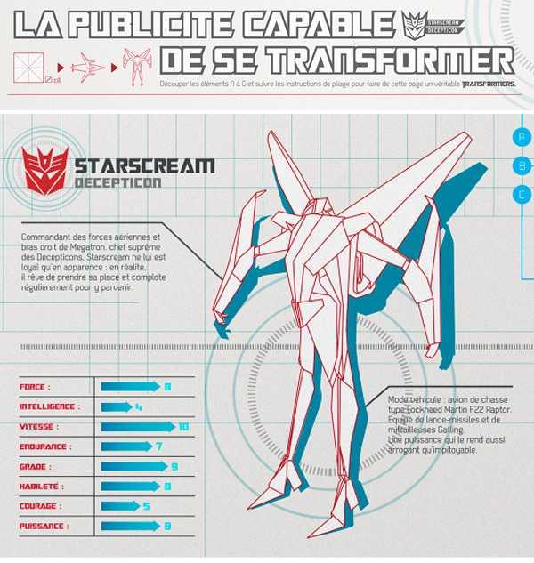 実際に変形も可能、Hasbroの作ったトランスフォーマーの折り紙が凄い