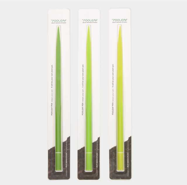 葉っぱかな?いいえ、これはペンです「Pooleaf pens」