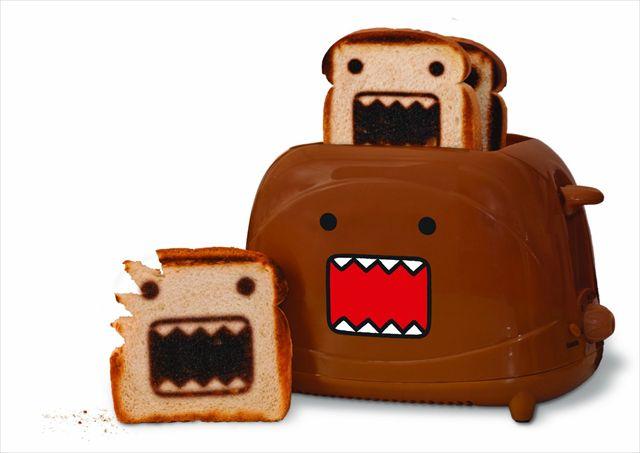 ドーモ君のトーストが焼けるトースター「Domo Toaster」が可愛い