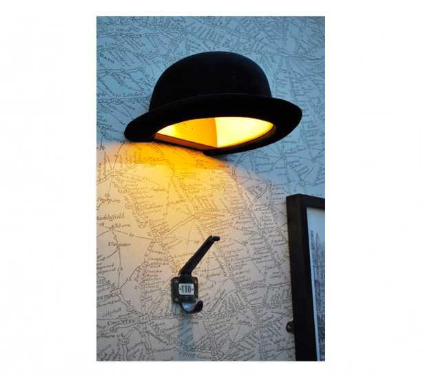 ボーラーハット型のウォールランプ「JEEVES WALL LAMP」