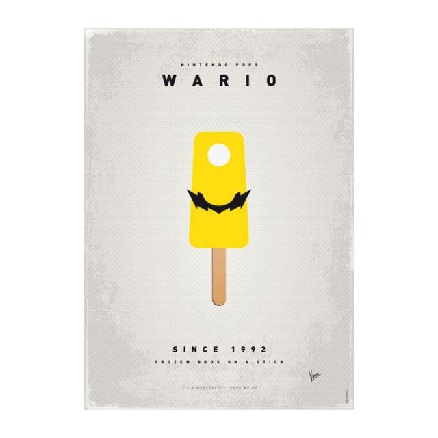 スーパーマリオをアイスクリームに変換したポップアート「Super Mario Ice Pops」