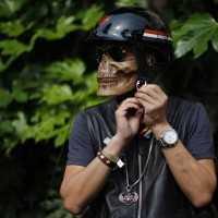 ハーレー愛好家の着用していたバイク用のスカルフェイスマスクが超かっけー!!