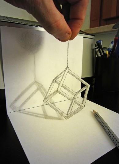 とても平面には見えない立体的すぎるトリックアート by Alessandro Diddi