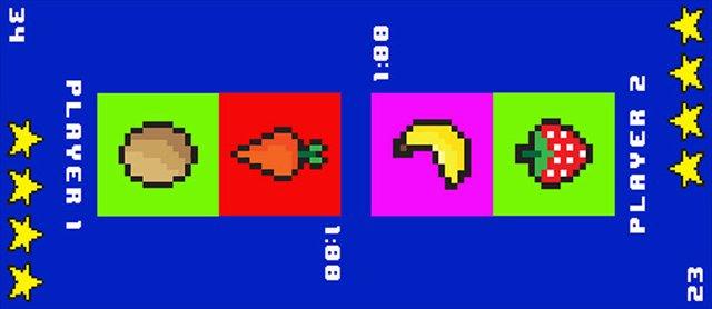 画面に表示された食べ物を食べるゲームで好き嫌いを忘れさせるテーブル