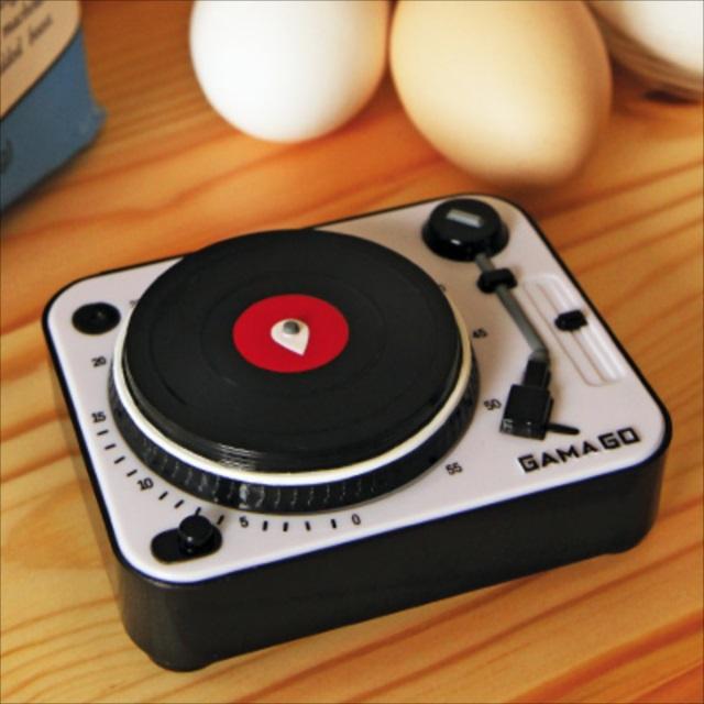 ターンテーブル型のキッチンタイマー「Turntable Kitchen Timer」がカワイイ!