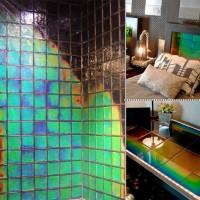 温度によってサーモグラフィっぽく色が変わるタイル「Heat Sensitive Tile」