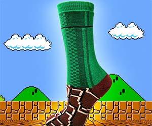スーパーマリオのワープゾーン(土管)をモチーフにした靴下