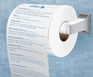 Twitterのタイムラインをトイレットペーパーに!?「Twitter Feed Toilet Paper」
