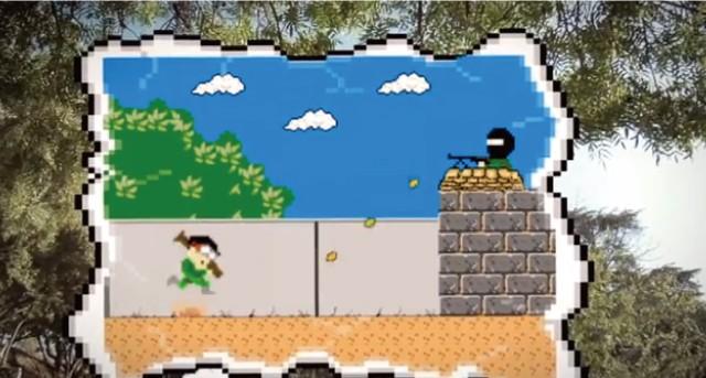 【動画】ゲームのようにロケットランチャーを地面に発射してジャンプする方法