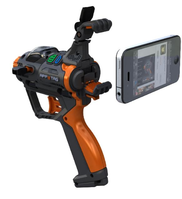 iPhoneを装着して複数人でサバイバルゲームを楽しむことができる「AppTag」が凄い!